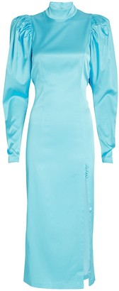 Rotate by Birger Christensen Teresa Puff Sleeve Midi Dress