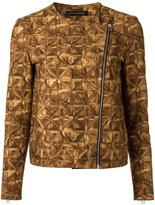 Andrea Marques - all-over print jacket - women - Cotton/Spandex/Elastane - 36