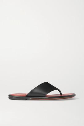 Neous Lanke Leather Flip Flops - Black