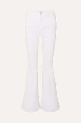 L'Agence Solana High-rise Flared Jeans - White
