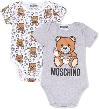 MOSCHINO BAMBINO Baby Bear-Print Body