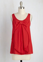 Hello, Bow! Sleeveless Top in Red in 3X