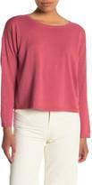 Eileen Fisher Boxy Linen Blend Sweater (Petite)
