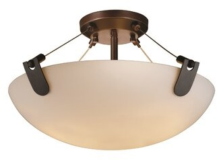 "Wrought Studioâ""¢ Celya 1 - Light 21"" Unique/Statement Bowl LED Semi Flush Mount Wrought Studioa Shade Color/Pattern: Opal"
