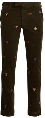 Ralph Lauren Stretch Slim Embroidered Trouser