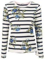 George Floral Stripe Sweatshirt