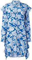 MSGM floral print shirt dress - women - Silk - 42