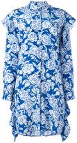 MSGM floral print shirt dress