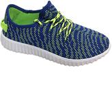 Rockland Blue & Neon Green Easy Sneaker - Men