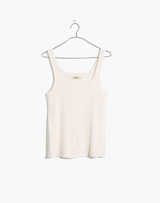 Madewell Ribbed Square-Neck Tank Top
