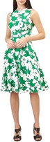 Hobbs Evie Dress, Grass Green/White