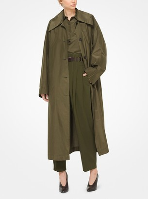 Michael Kors Silk and Cotton Taffeta Trench Coat