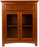 """Glitzhome 32""""H Wooden Shelved Floor Storage Cabinet With 1 Drawer And Double Doo"""