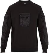 Cottweiler Contrast-pocket cotton-blend sweatshirt