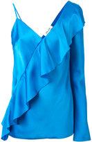 Diane von Furstenberg diagonal ruffle blouse - women - Polyester/Triacetate - 6