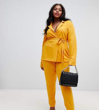 Lasula Plus cigarette trouser in yellow