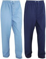 Universal Textiles Mens Long Trouser Nightwear/Pyjama Bottoms (Pack Of 2)