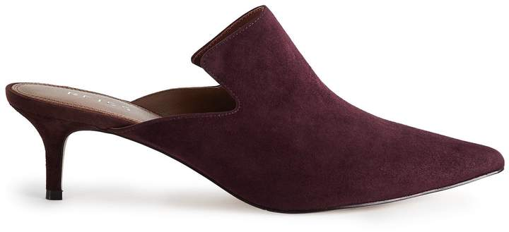 Reiss ASTRAL SUEDE MULES Berry