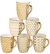 Certified International 6-pc. Plated Tapered Mug Set