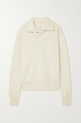 LES TIEN Cotton-jersey Sweatshirt - Off-white