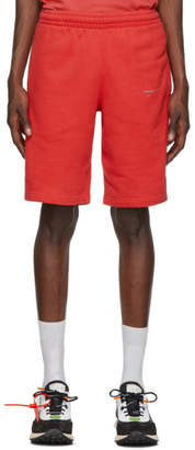 Off-White Off White Red Unfinished Sweat Shorts