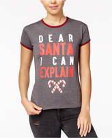 Mighty Fine Juniors' Santa Holiday Graphic T-Shirt