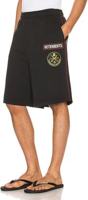 Vetements Russian Police Shorts in Black | FWRD