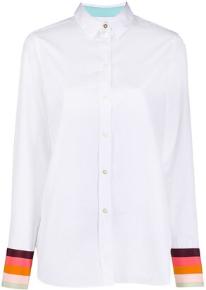 Paul Smith Long-Sleeeved Striped-Cuffs Shirt