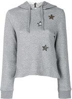 RED Valentino star hooded sweatshirt - women - Cotton/Acrylic/Polyamide/metal - S