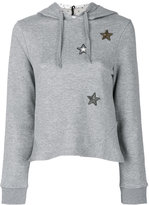 RED Valentino star hooded sweatshirt
