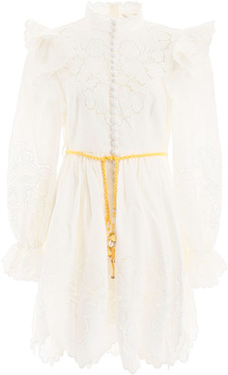 Zimmermann Carnaby Embroidered Mini Dress
