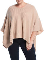 Naked Cashmere Plus Cashmere Asymmetric-Hem Poncho, Plus Size