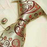 Y&G Heart men wearing ties red gift for dad discount silk ties cufflinks set A2031