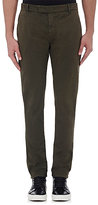 J Brand Men's Brooks Slim Cotton Trousers-DARK GREEN