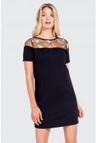 Select Fashion Fashion Emb Mesh Shift Dress Dresses - size 6