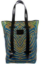 Proenza Schouler Leather-Accented Jacquard Tote
