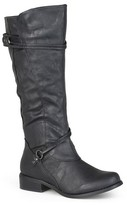 Women's Journee Collection Ankle Strap Buckle Knee-High Riding Boots