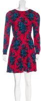Miu Miu Floral Print A-Line Dress