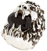 Gucci Lion Head & Swarovski Ring