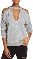 Honey Punch Cold-Shoulder Star Sweatshirt