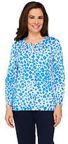 As Is Quacker Factory Lady Leopard Animal Print Sparkle Cardigan