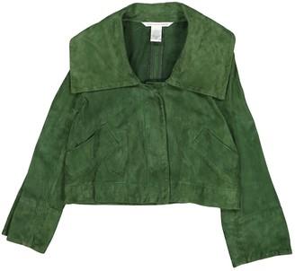 Diane von Furstenberg Green Suede Jackets
