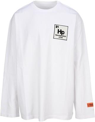 Heron Preston Graphic Printed Long Sleeve T-Shirt