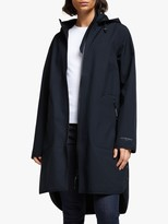 Ilse Jacobsen Hornbæk Hornbk 3/4 Length Detachable Hood Raincoat, Dark Indigo