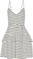 Marissa Webb Mattie striped twill mini dress