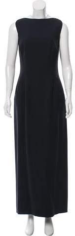 Giorgio Armani Sleeveless Bateau Neck Dress