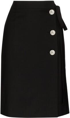 Prada Side-Tie Knee-Length Skirt