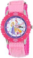 Disney Kids' W000365 Princess Stainless Steel Time Teacher Bezel Velcro Strap Watch