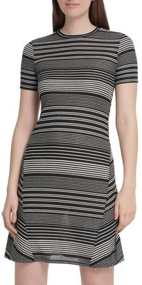 DKNY Short Sleeve Rib Dress