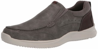 Nunn Bush Men's Conway Slip-On Moccasin Toe with Comfort Gel Loafer Gray 9 M US